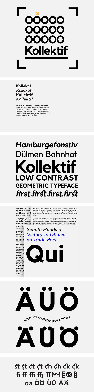 Kollektif Sans Serif Typeface