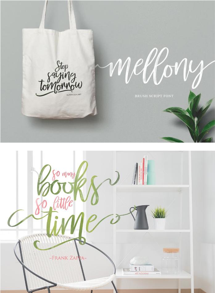 Mellony Brush Typeface