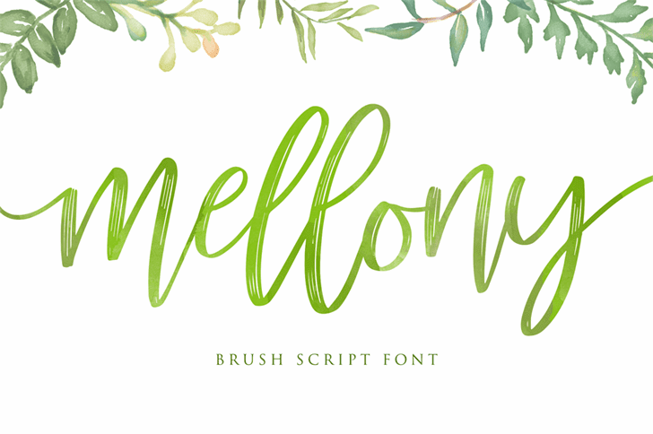 Mellony Brush Typeface