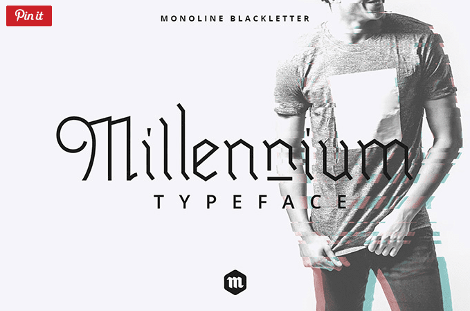 Millennium Blackletter Free Typeface