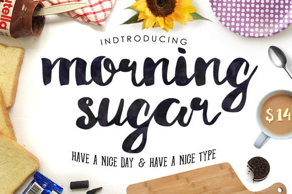 Morning Brush Lettering Font