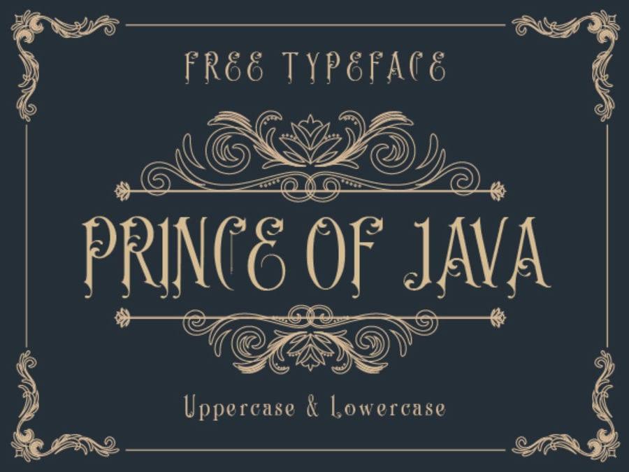 Prince of Java Free Vintage Typeface