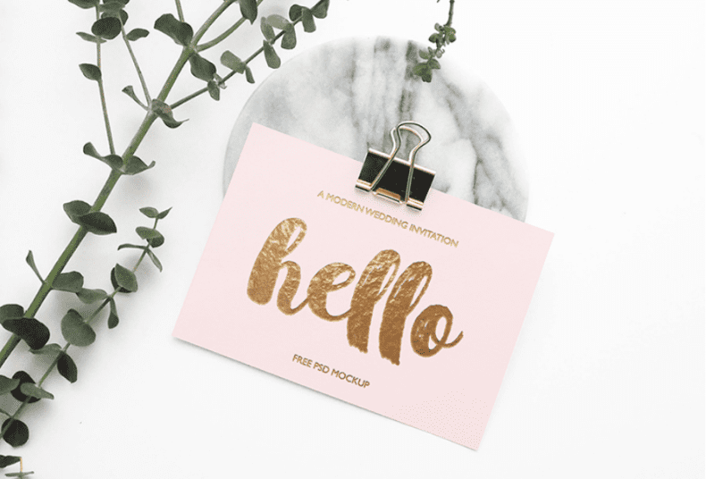 Stylish Greeting Card Free MockUp