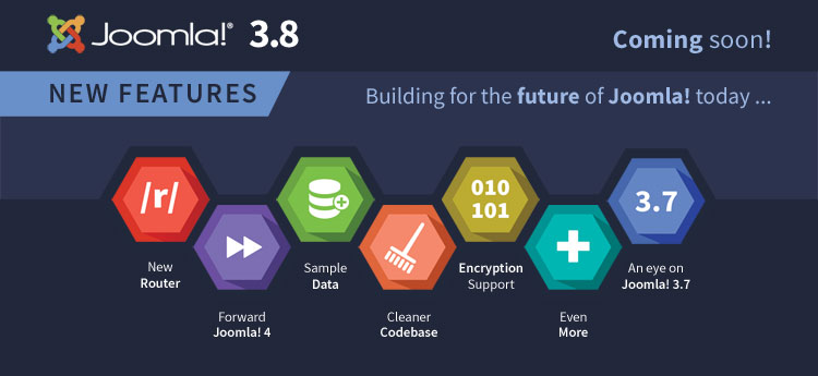 Announcement of releasing new features for Joomla 3.8