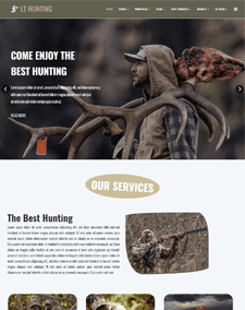 LT Hunting Onepage – Free Single Page Responsive Hunting Joomla template