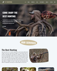 LT Hunting – Free Responsive Hunting WordPress Theme