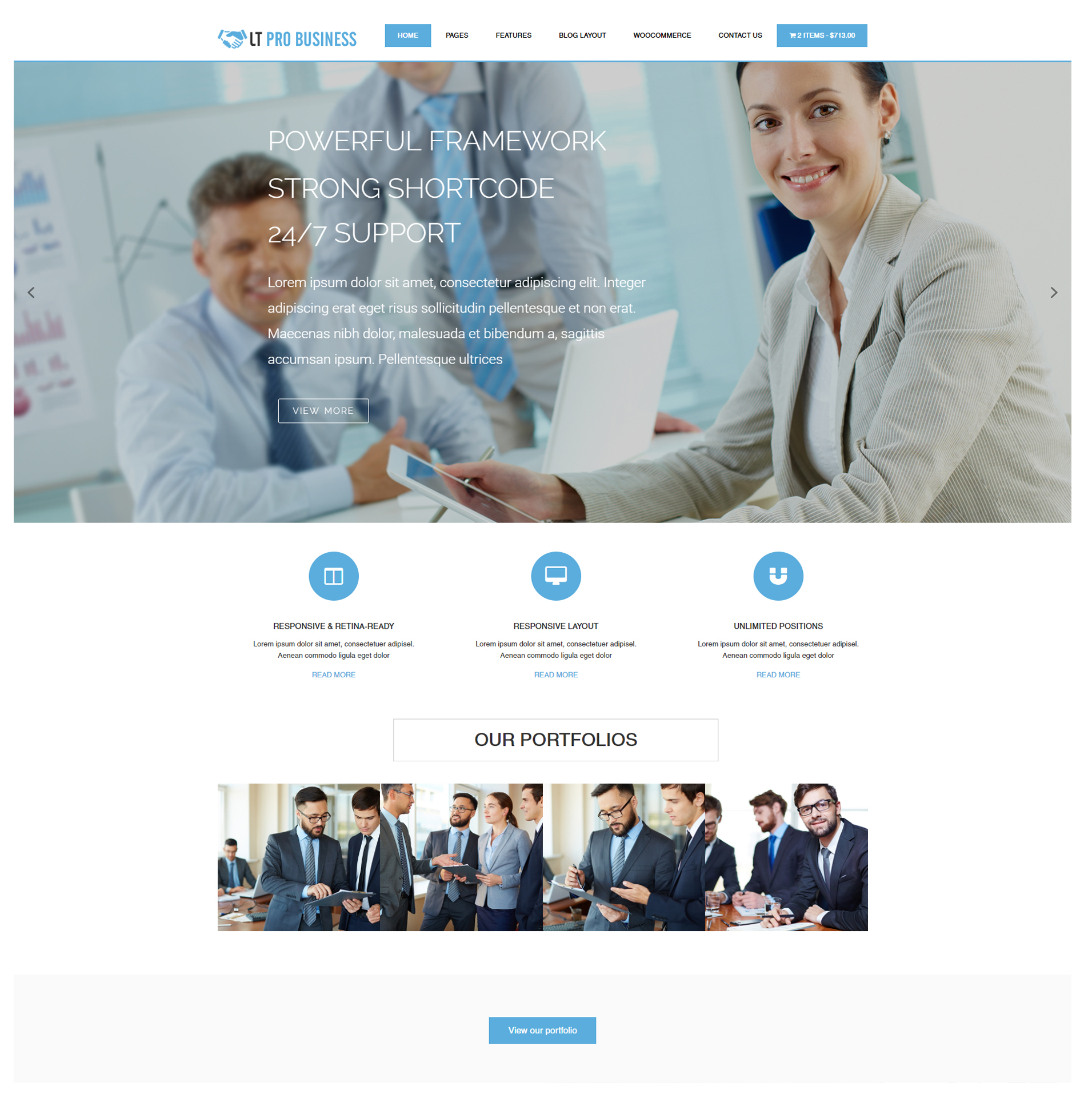 Lt pro business free pro business wordpress theme view live demo cheaphphosting Images
