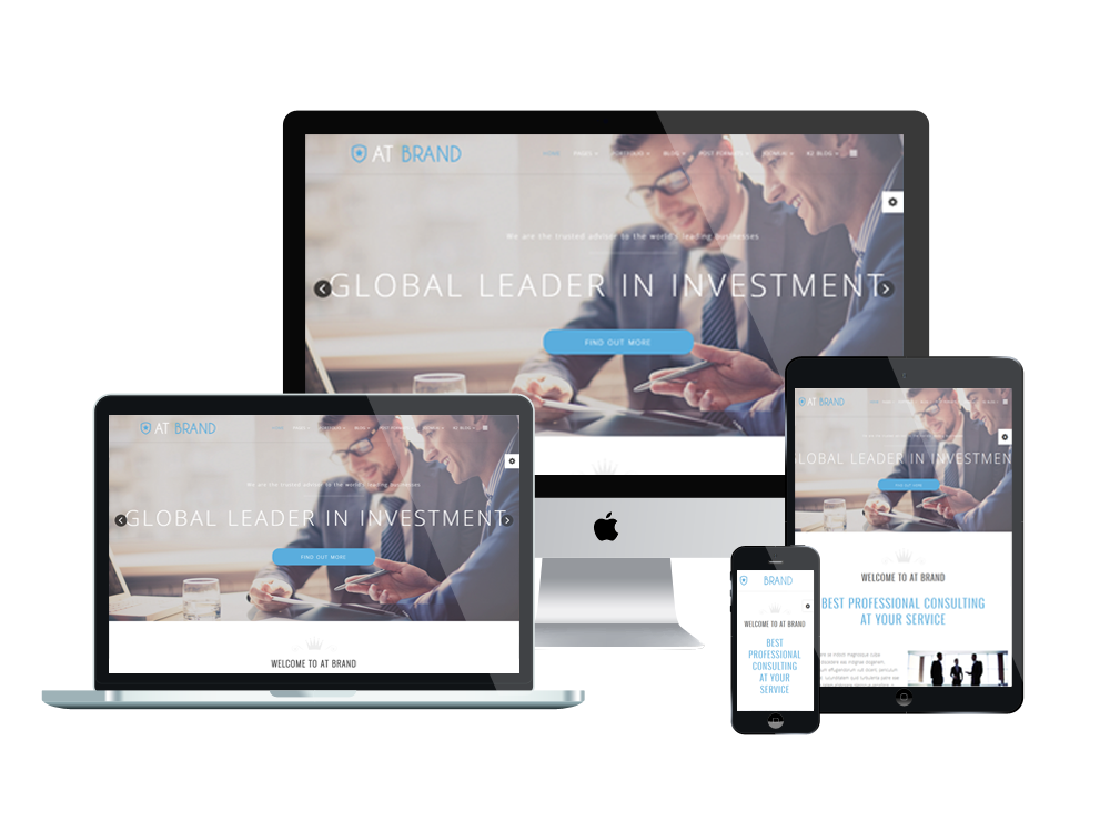 Top best free business corporation joomla 3 templates 2018 at brand best joomla business templates wajeb Gallery
