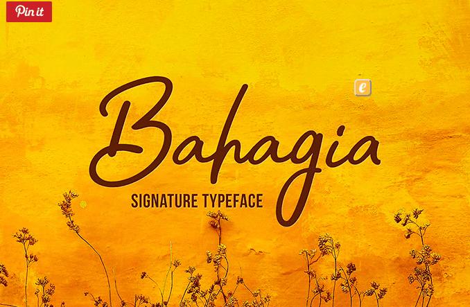 Bahagia Free Signature Typeface