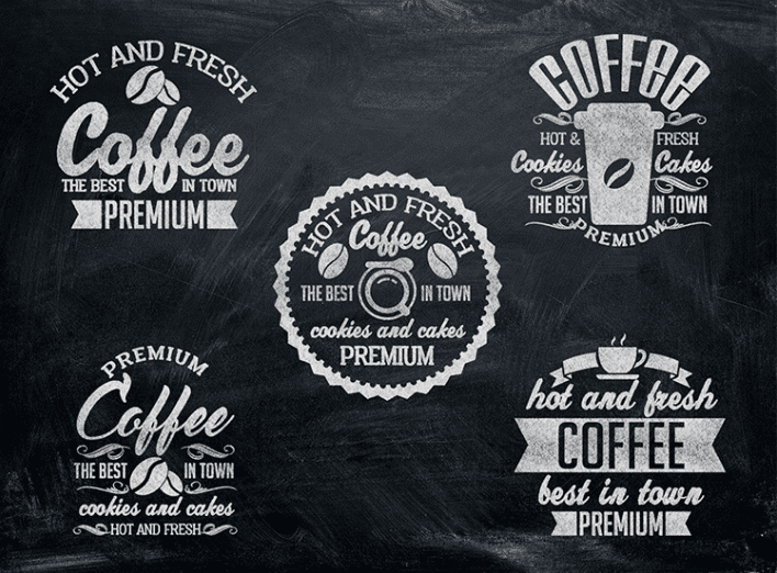 Coffee Signs Free PSD MockUps Set