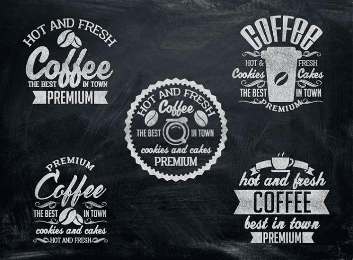 Coffee Signs Free PSD MockUps Set