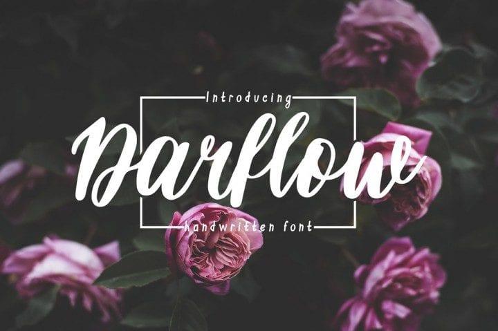 Darflow Handwritten Typeface