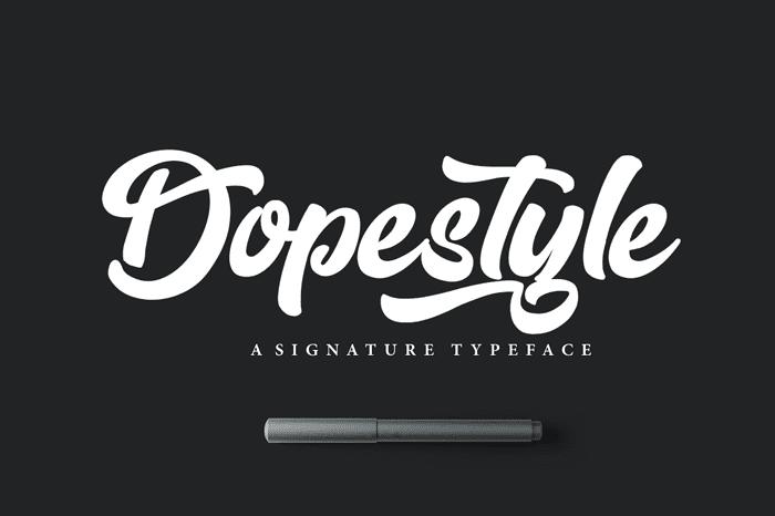 Dopestyle Free Script Typefaces
