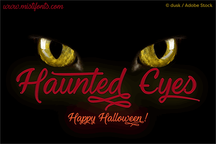 Haunted Eyes Handwritten Typeface