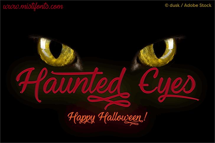 Haunted Eyes Handwritten Typeface