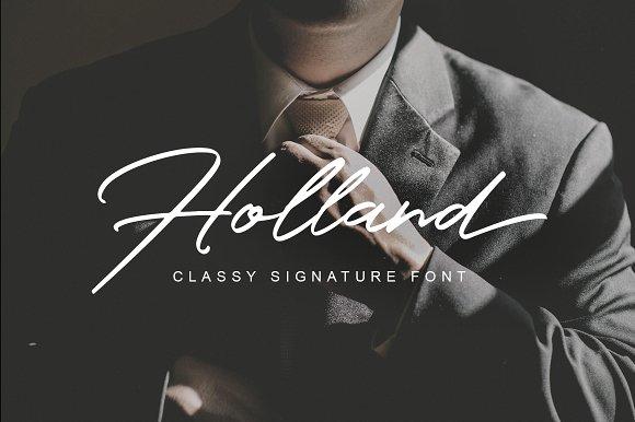 Holland Free Script Typefaces