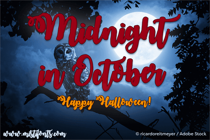 Midnight in October Free Typefaces