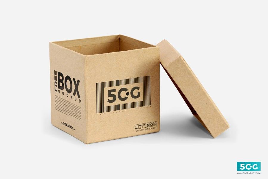 Open Box MockUp PSD Template