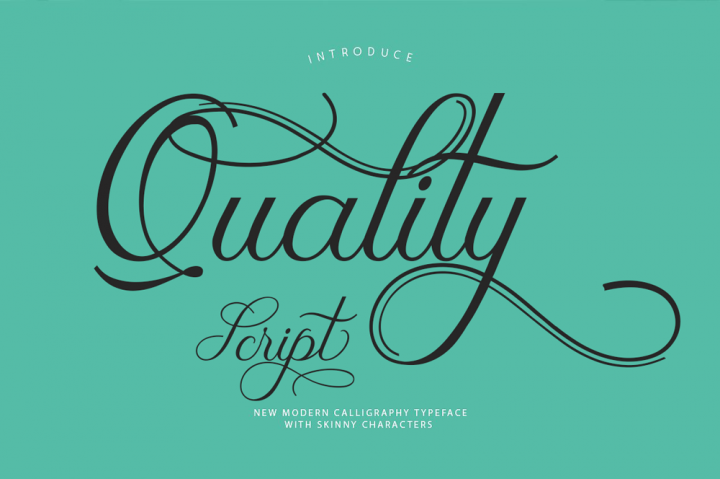Quality Modern Script Typeface
