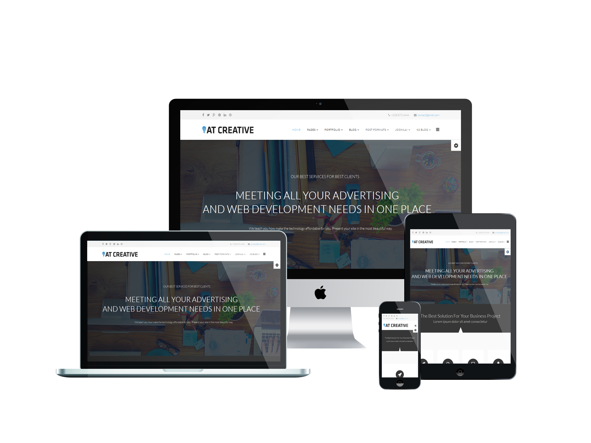 2. AT Creative – Free Image Design / Creative Joomla template