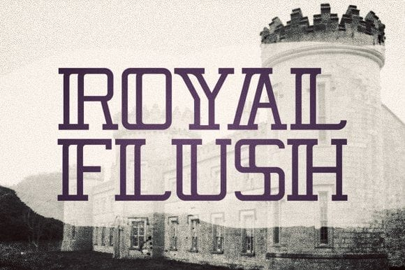 Royal Flush Display Typeface