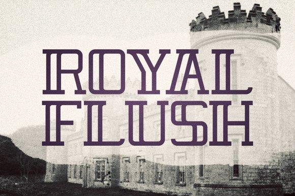 Royal Flush Display Typeface