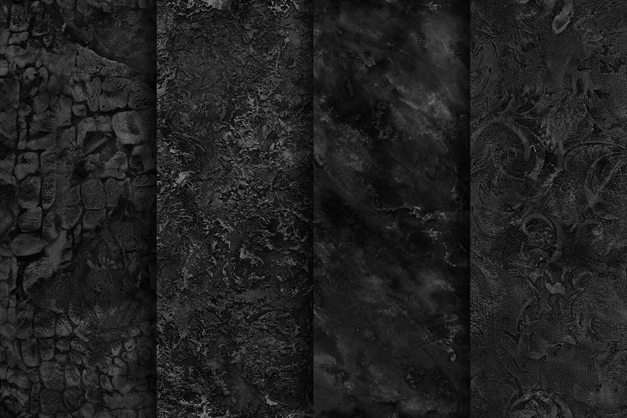 Set Of 20 Seamless Black Free Textures