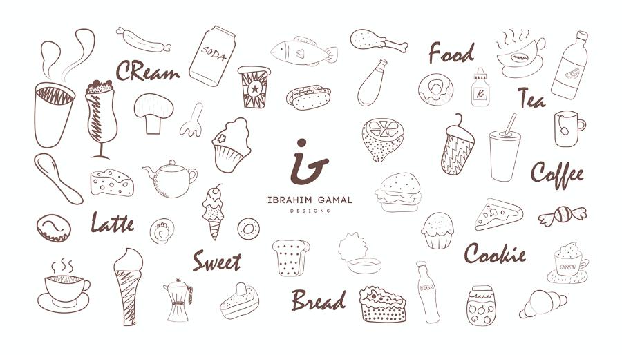 Set Of Free Food Doodles