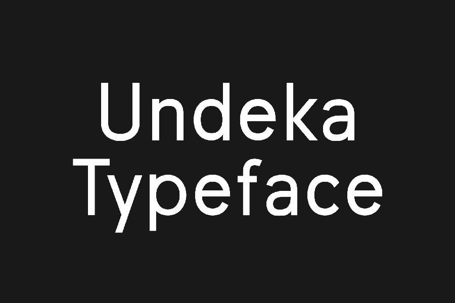 Undeka Sans Serif Typeface
