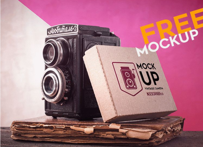 Vintage Camera MockUp PSD Free Template - Responsive Joomla and Wordpress themes
