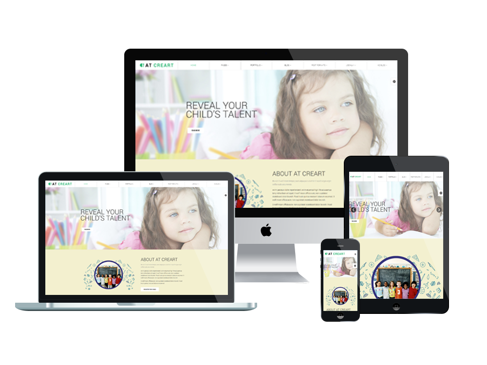 AT CreArt – Free Art School / Graphic Design Joomla template