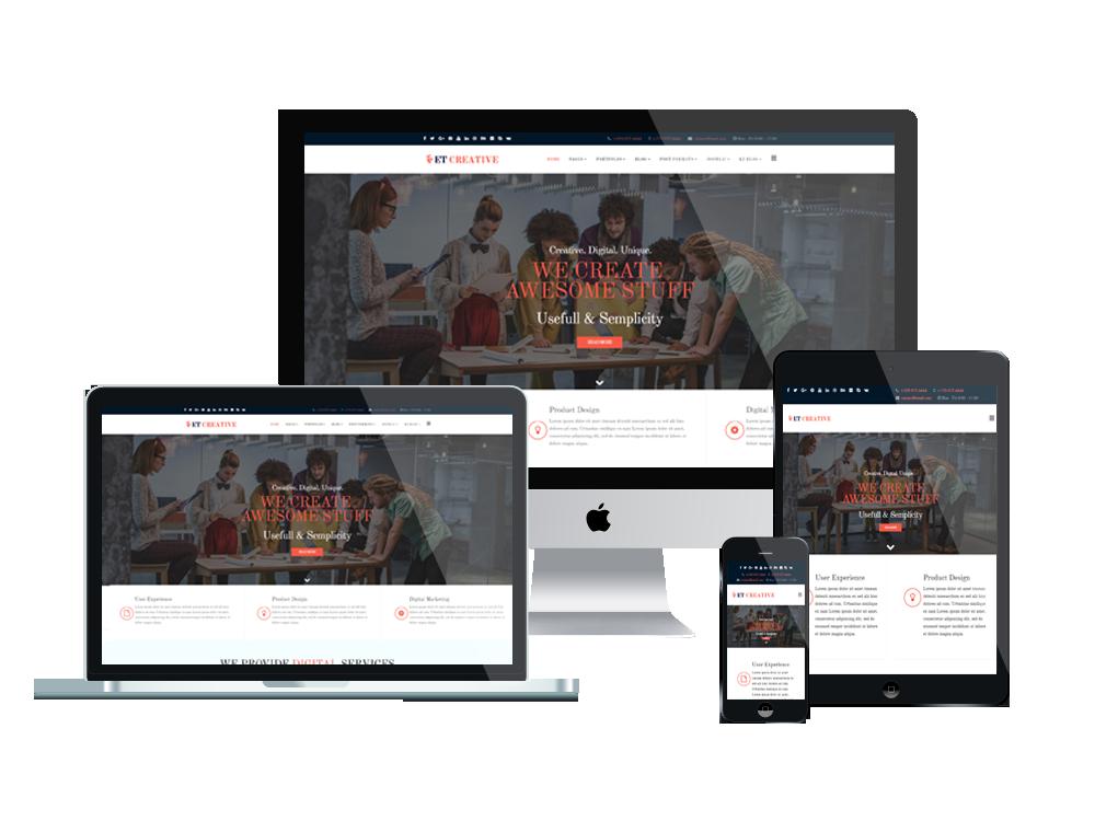 ET Creative – Free Responsive Creative Joomla! template