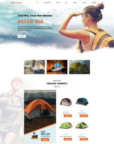 LT Camping – Free Responsive J2Store joomla templates sport