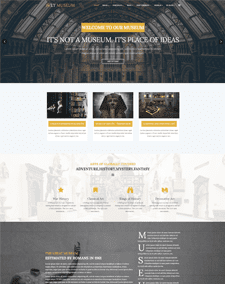 LT Museum Single Page – Free Museum WordPress Theme