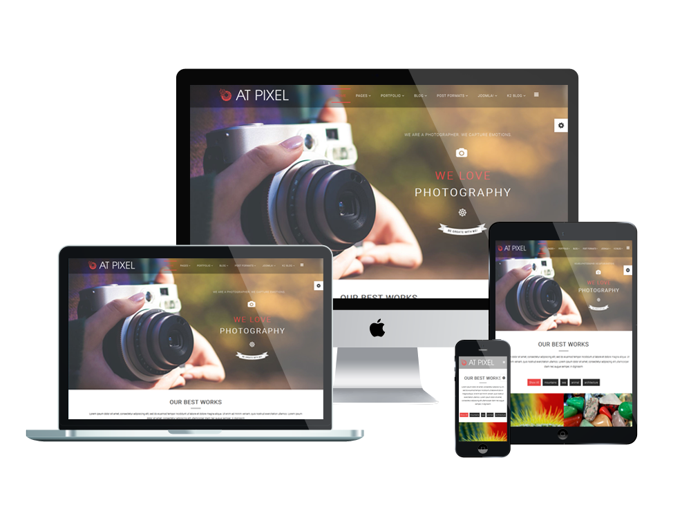 AT Pixel – Free Photography Joomla Template