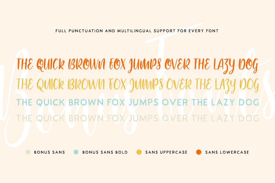 Bouncy Castle Free Calligraphy Fonts