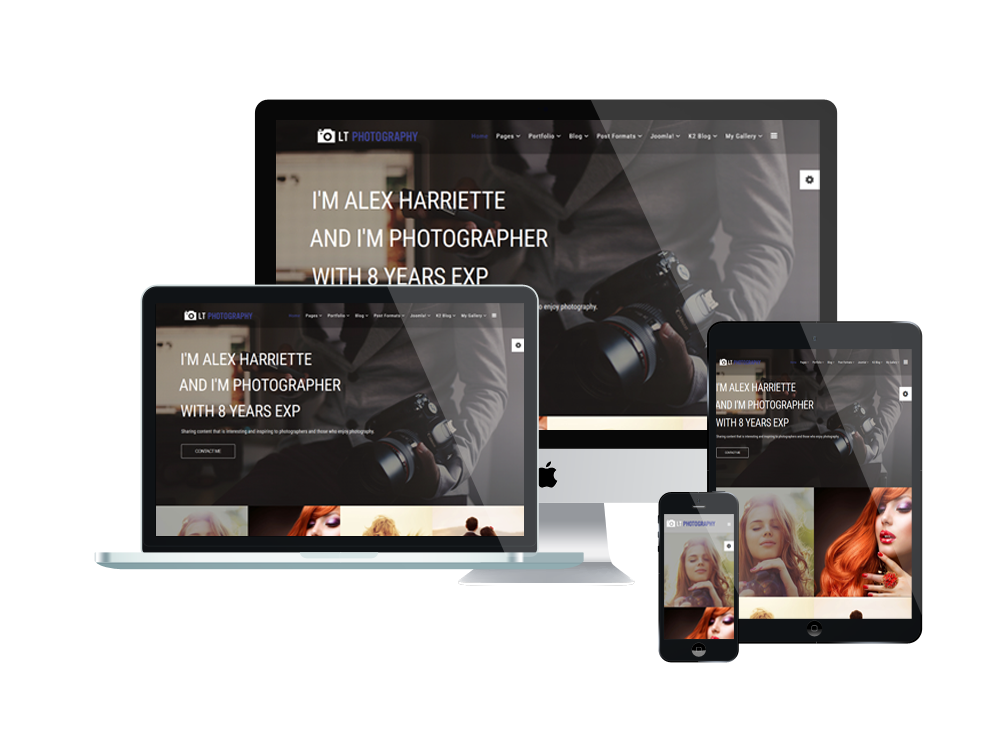 1. LT Photography – Free Joomla Photography template