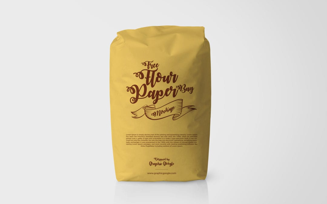 Paper Bag Packaging Free PSD MockUp