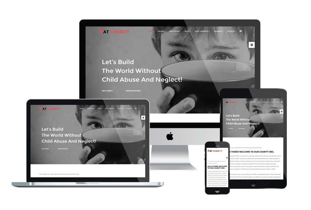 Top Best Free Joomla Templates For Charity / Non-profit Websites 2018