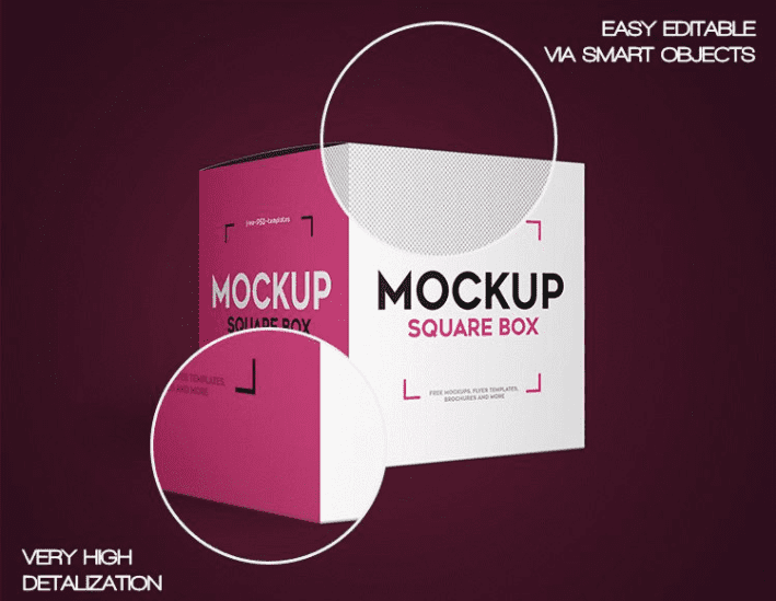 Square Box PSD MockUp Template