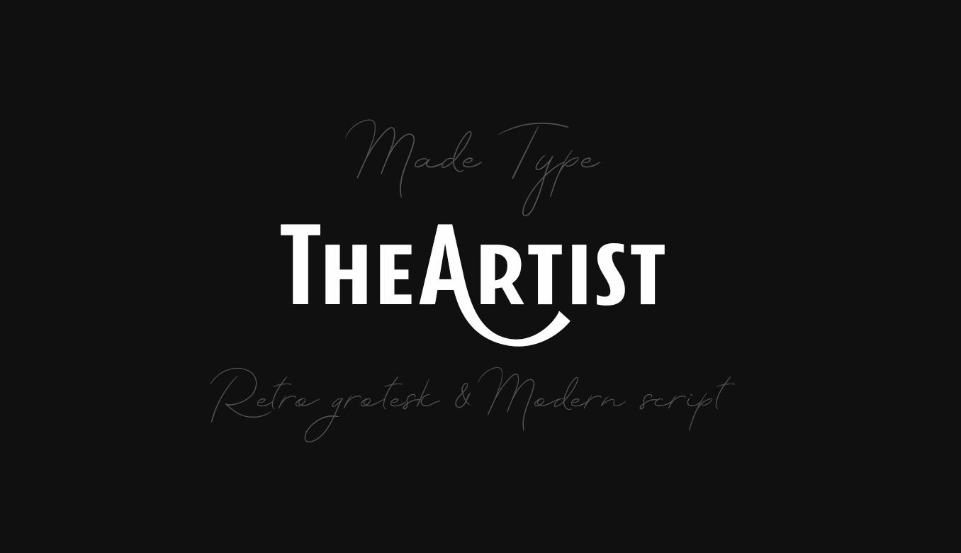 TheArtist Duo Modern Script Typeface