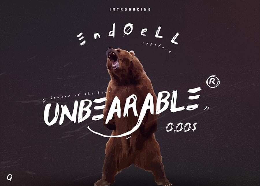 Unbearable Free Handwriting Fonts
