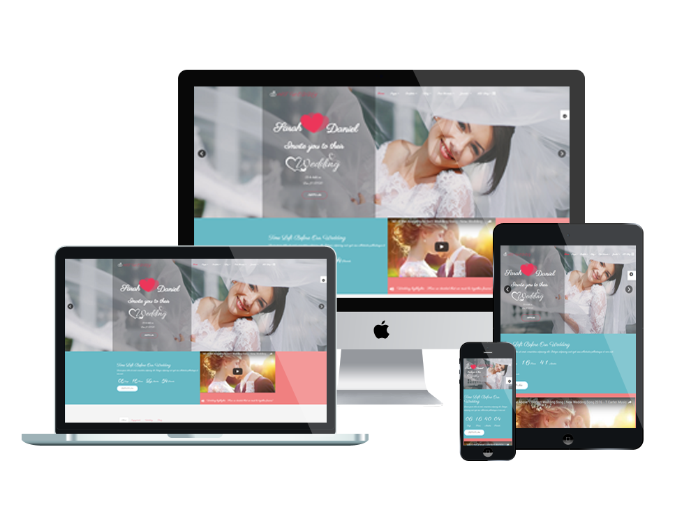 1. AT Weddy – Free Responsive Wedding Planner Joomla template