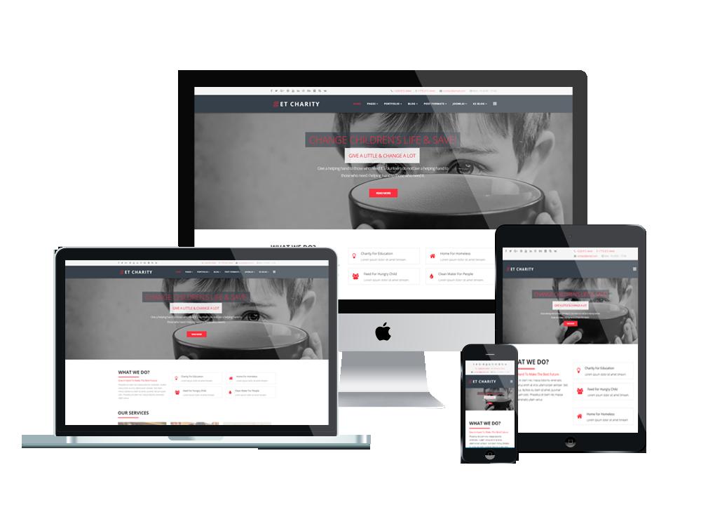 Top Best Free Joomla Templates For Charity / Non-profit Websites ...