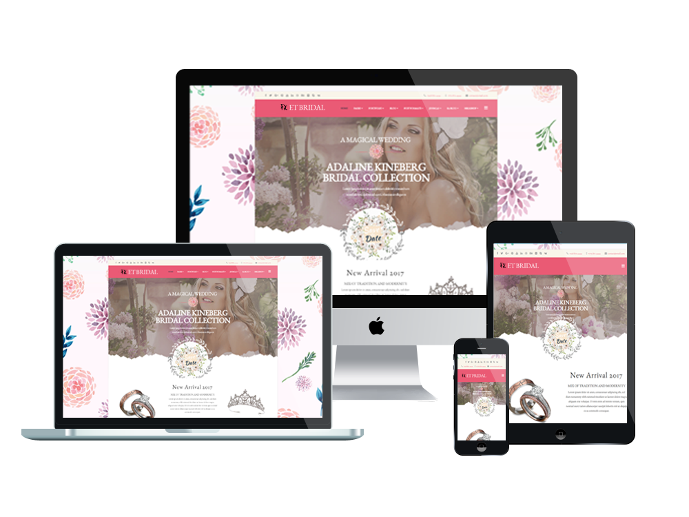 1. ET Bridal – Free Responsive Wedding Joomla! template