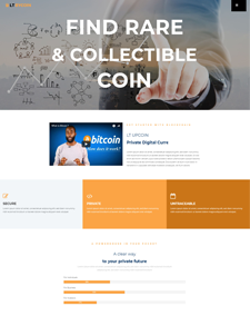 LT ByCoin – Free Responsive Cryptocurrency Website Template