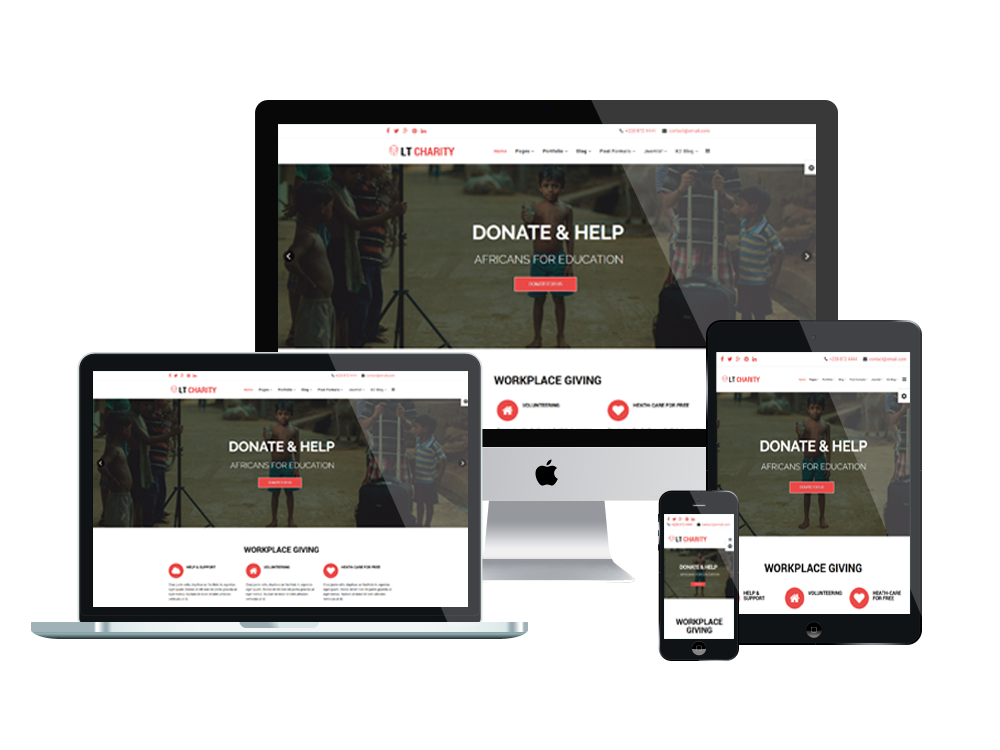 LT Charity – Free Joomla Templates For Charity/ Non-profit website