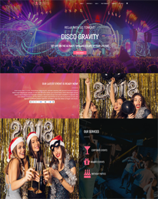 LT Disco Single Page – Free Responsive One Page Nightclub WordPress Theme