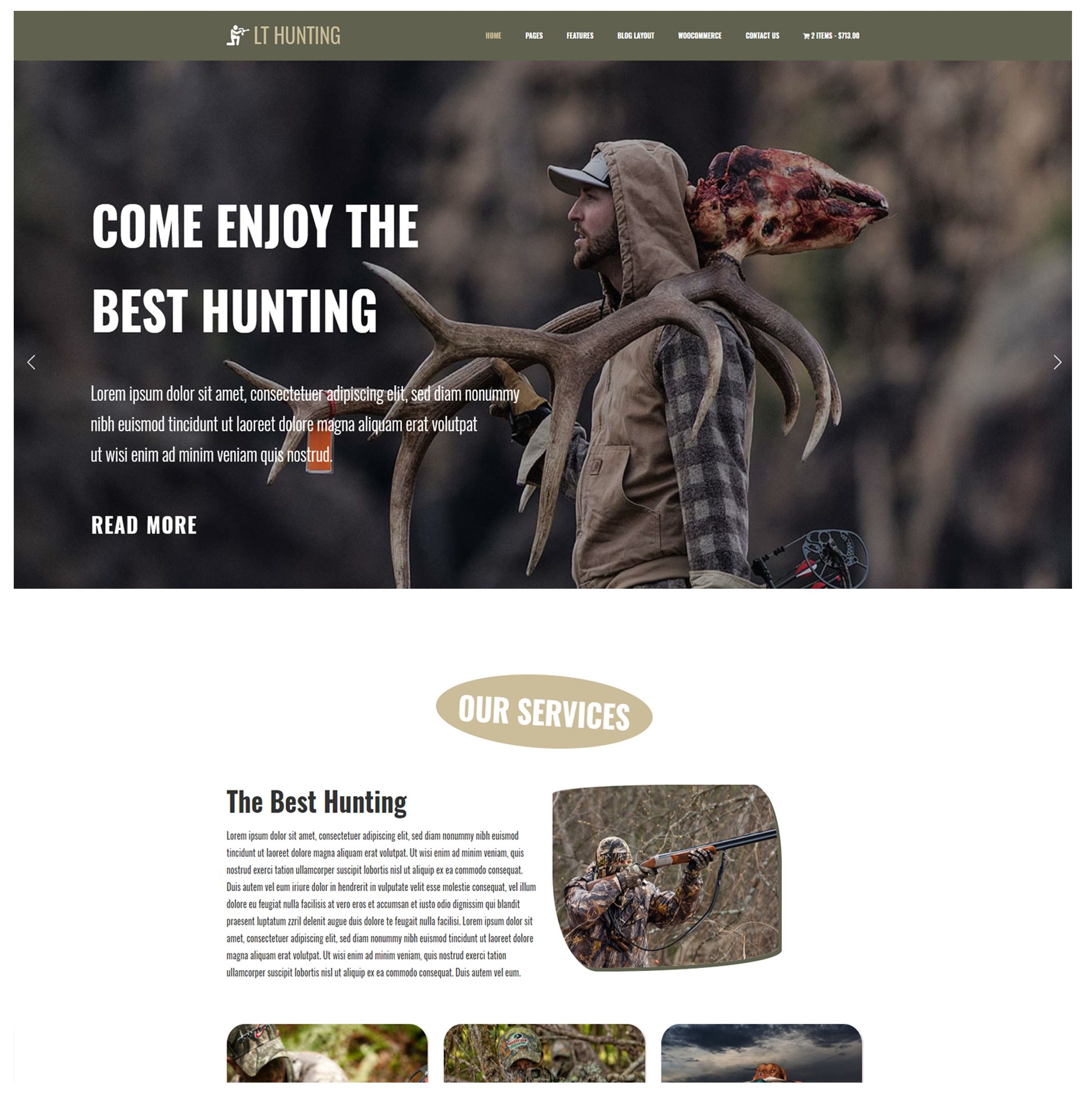 LT Hunting – WordPress Theme