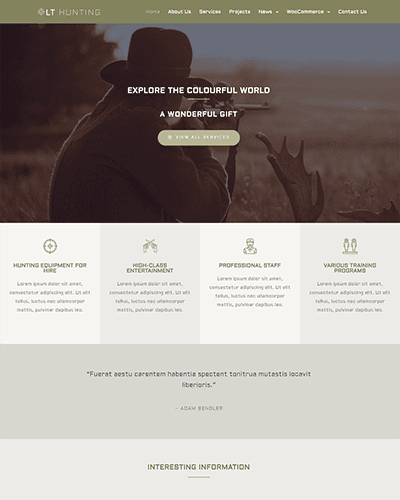 LT Hunting – Free Responsive sport wordpress theme